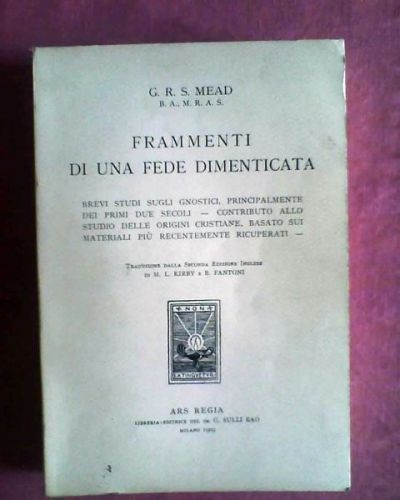 Libri in italiano sullo gnosticismo area forum for Libri in italiano