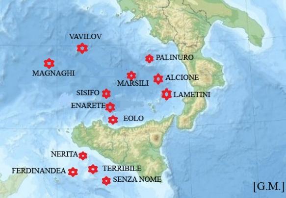 Cartina Italia Con Vulcani.Vulcani Sottomarini In Italia Giuseppemerlino S Blog